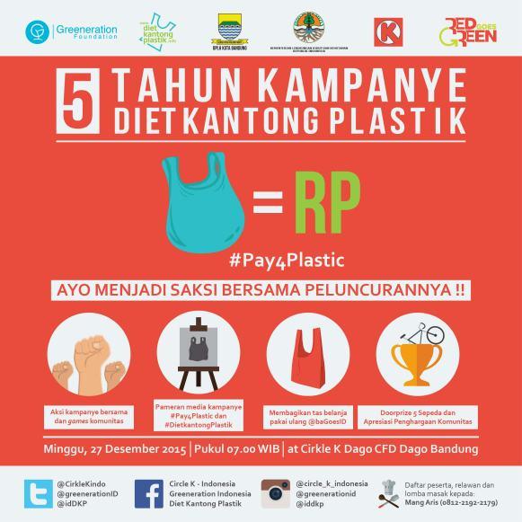 Kota Bandung telah memulai kampanye untuk mengurangi penggunaan kantong plastik. Kota ini juga merupakan salah satu dari 22 kota yang akan menerapkan kebijakan Kementrian LHK tentang biaya pembelian kantong plastik bagi konsumen. (sumber ilustrasi:viva.co.id)